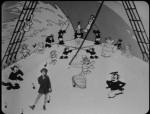 Still from 'Alice the Whaler' featuring Alice and some animals dancing on a ship