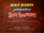 Silly Symphony opening card © Walt Disney