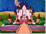 Still from 'Old King Cole' featuring a castle in a book