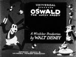 Oswald the Lucky Rabbit title card © Walt Disney