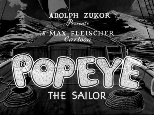 Popeye title card from 'Fowl Play' © Max Fleischer